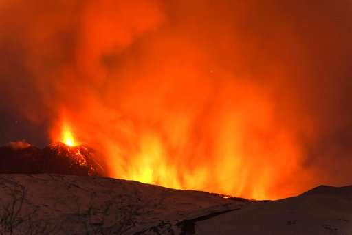 10 injured in explosion on erupting Mount Etna volcano