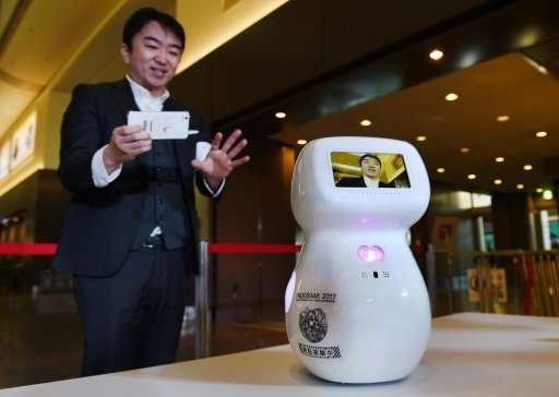 """Communication robot """"Cinnamon"""" could be greeting visitors to the 2020 Olympics"""