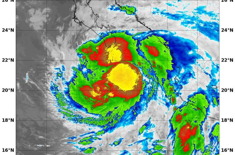 NASA sees powerful thunderstorms in Tropical Storm Lidia's center