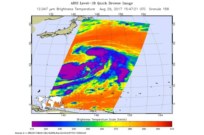NASA sees strengthening Tropical Cyclone Sanvu develop a tail