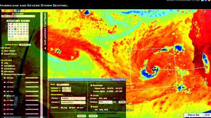 Tropical Cyclone Information System updated to include new satellite data sets