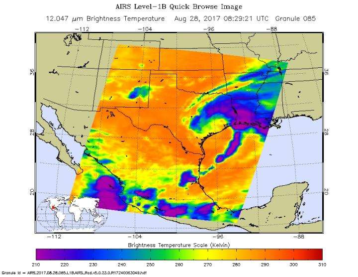 NASA sees Tropical Storm Harvey moving back into the Gulf