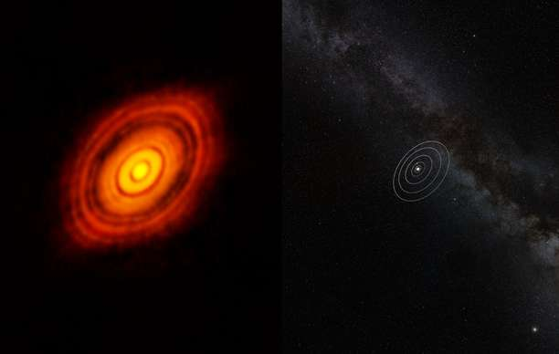 """Astronomers track the birth of a """"super-Earth"""""""