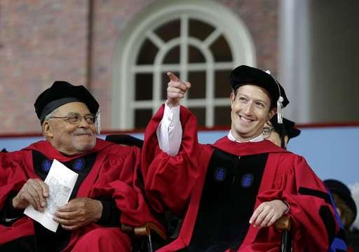 Facebook's Zuckerberg gives Harvard graduation speech
