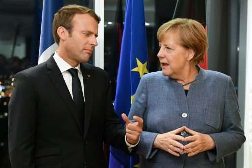 German Chancellor Angela Merkel, the EU's most powerful leader, has indicated her support for French President Emmanuel Macron's