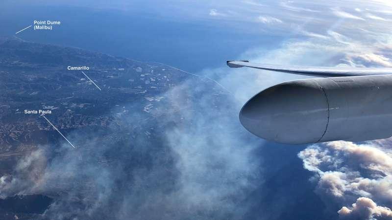 NASA airborne science team surveys California fires