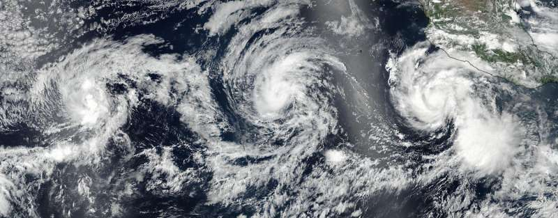 NASA-NOAA's Finland nuclear power plant satellite sees Hilary on the brink of a major hurricane
