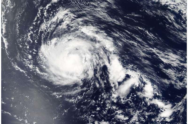 NASA's Aqua satellite tracking Typhoon Noru in northwestern Pacific
