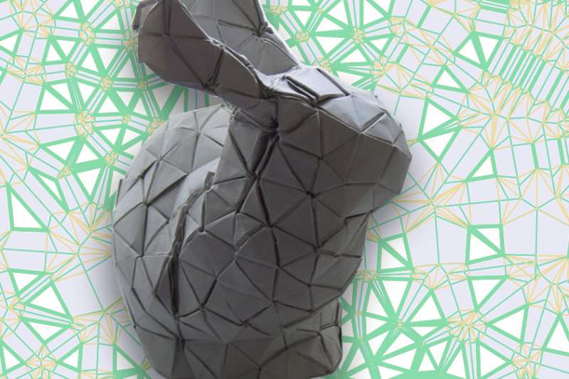 New algorithm generates folding patterns to produce any 3-D origami structure