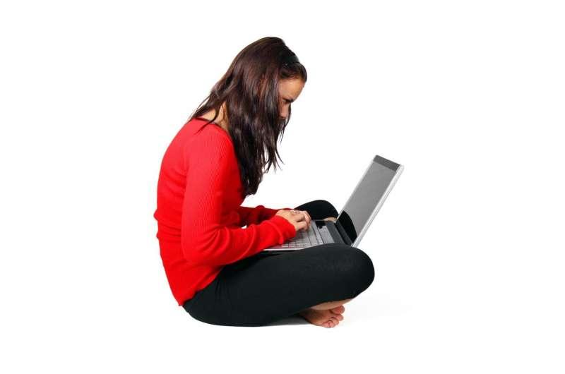 sitting computer