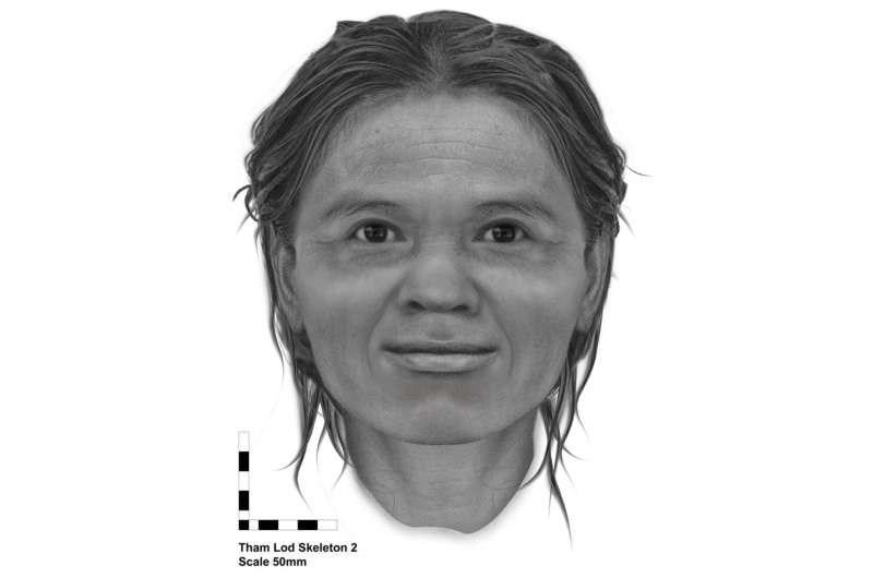 Face of woman from Tham Lod during Late Pleistocene reconstructed