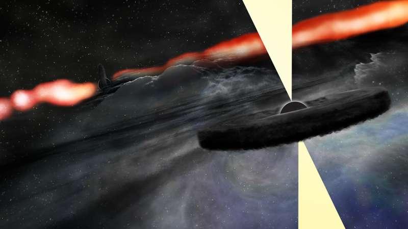 VLA reveals new object near supermassive black hole in famous galaxy