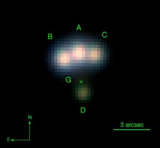 Discovery of a rare quadruple gravitational lens candidate with Pan-STARRS