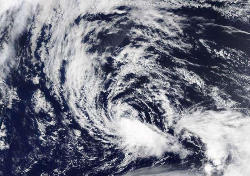 NASA's Terra Satellite catches the end of Tropical Depression Kulap