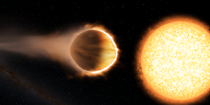 Hubble detects exoplanet with glowing water atmosphere