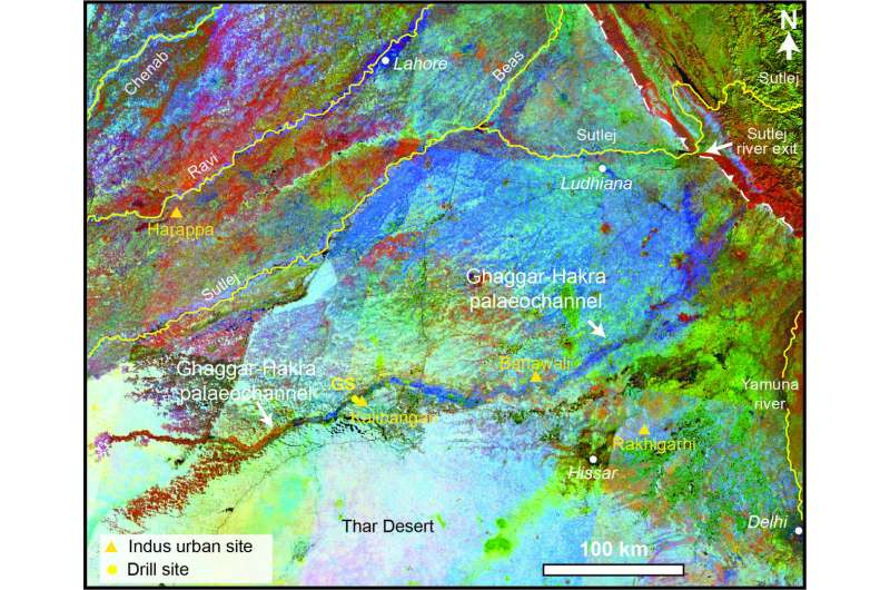 Scientists show how Himalayan rivers influenced ancient Indus civilization settlements