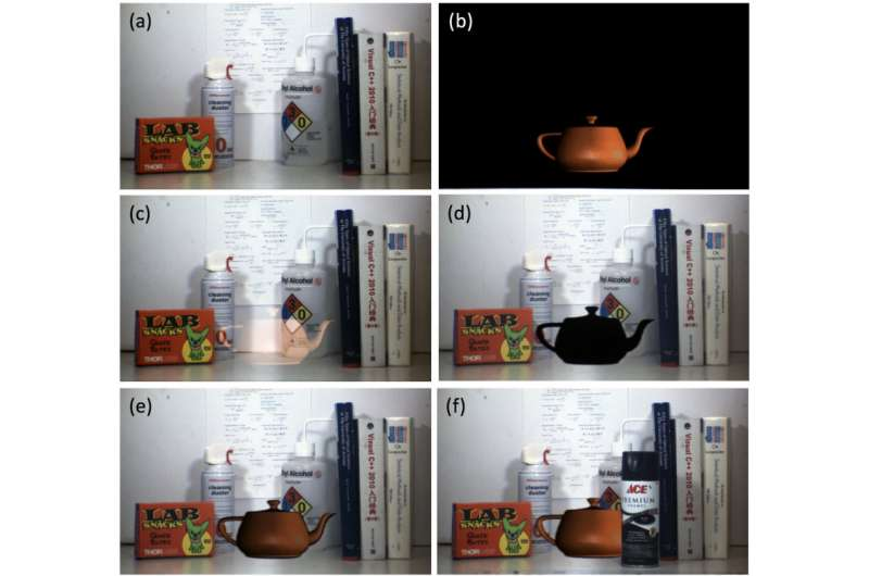Augmented reality: Digital teapot fits in with real objects