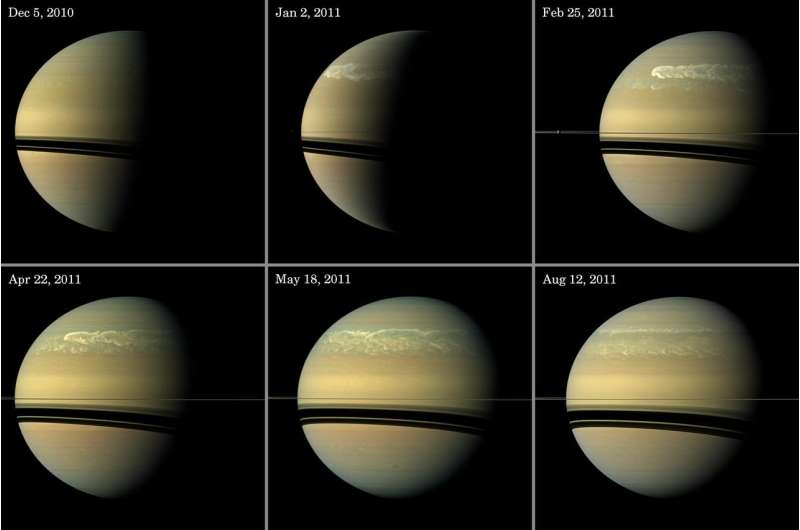 Giant storms cause palpitations in Saturn's atmospheric heartbeat