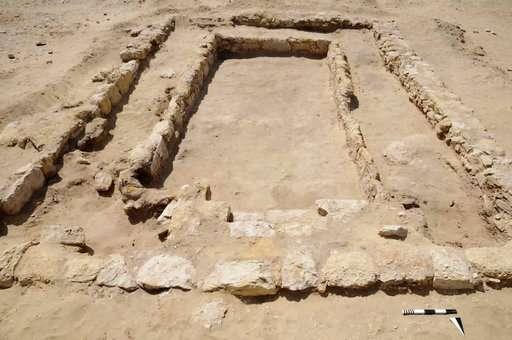 Archeologists discover ancient gymnasium near Egypt's Cairo