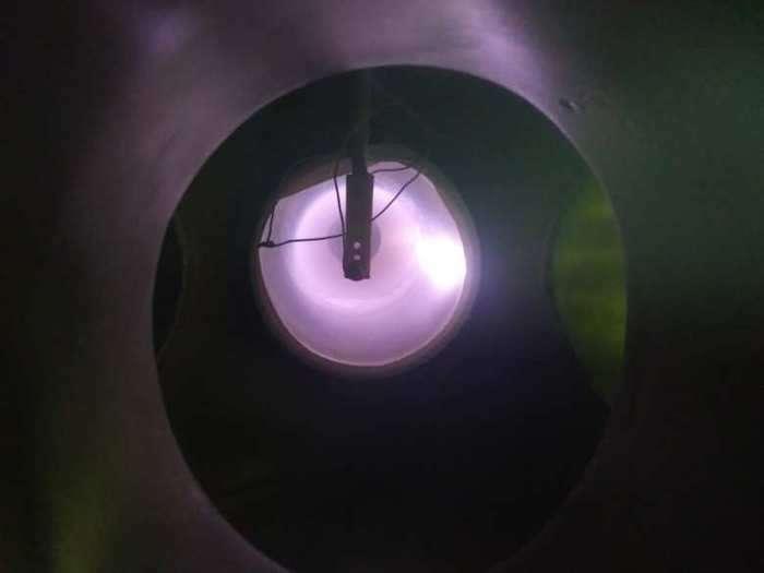 A bar magnet creates chaos in plasma