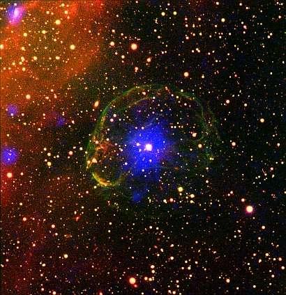 Accretion-powered pulsar reveals unique timing glitch
