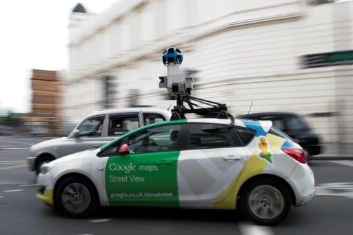A Google Street View vehicle pictured on a road in central London