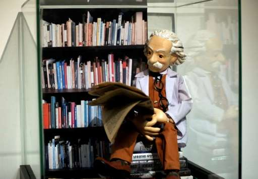An Israeli auction house is selling letters composed by Albert Einstein, here depicted in a statue at The Albert Einstein Archiv