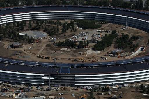 """Apple is holding its first public event at its new """"spaceship"""" headquarters in Cupertino, California"""