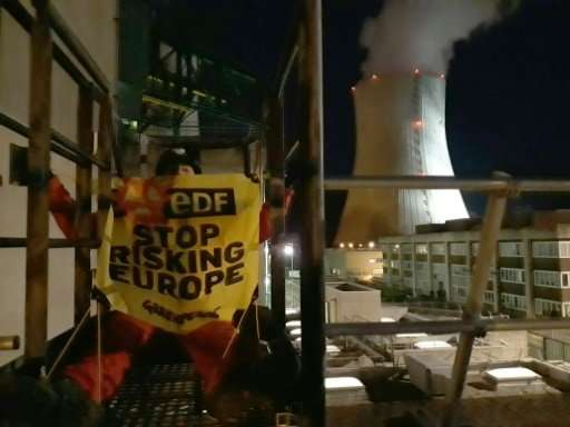 Around 20 activists took part in the latest stunt by the environmental campaign group