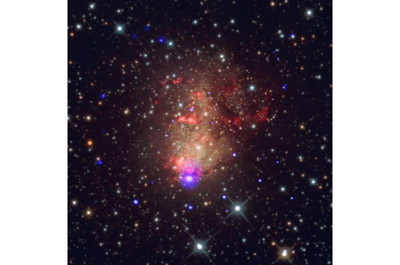 A starburst with the prospect of gravitational waves