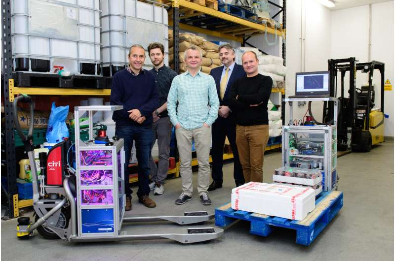 Autonomous forklift trucks which will work with humans are being developed