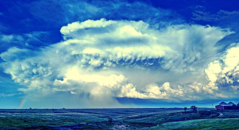 Broader updrafts in severe storms may increase chance of damaging hail