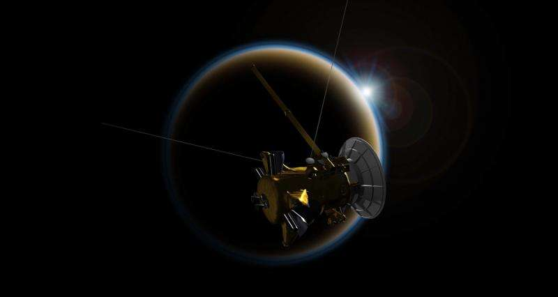 Cassini makes its 'goodbye kiss' flyby of Titan
