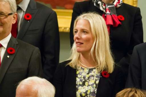 """Catherine McKenna, pictured here in 2015, has urged governments to """"keep working together""""on climate"""