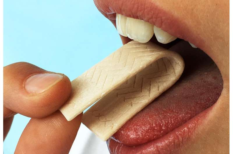 Chewing gum rapid test for inflammation