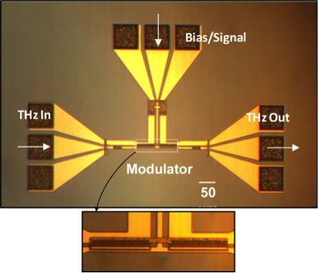 Chip-sized, high-speed terahertz modulator raises possibility of faster data transmission