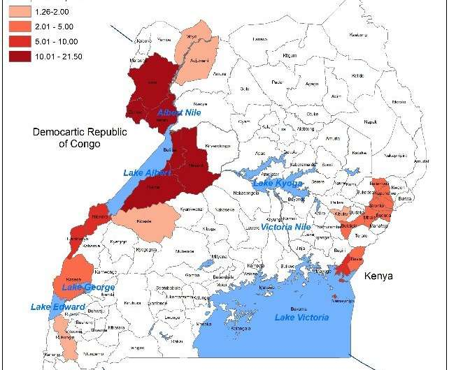 Cholera hotspots found at Uganda's borders and lakes
