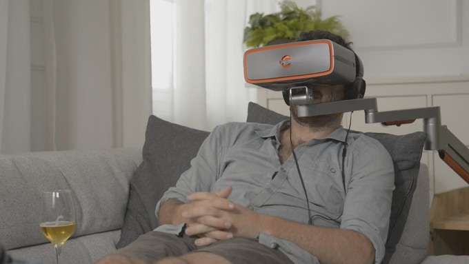 Cinera headset for movie theater experience