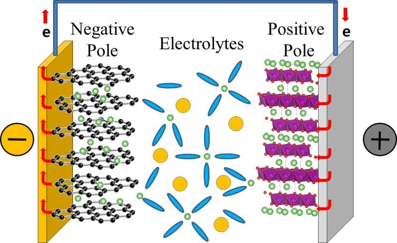 Clarifying how lithium ions ferry around in rechargeable batteries