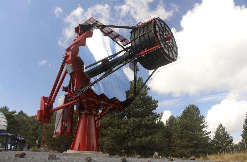 CTA prototype telescope, ASTRI, achieves first light