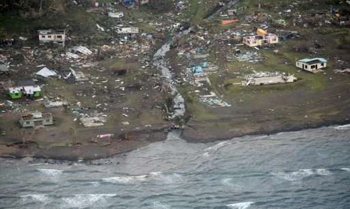 Cyclone Winston, the most powerful in Fiji's history, battered the  main island of Viti Levu in 2016