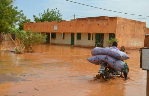 Destructive storms in the Sahel region have grown in frequencyfrom about 24 per rainy season in the early 1980s, to about 81 to