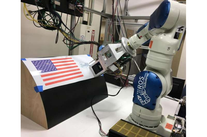 Disruptive system enables robotic printing on large complex surfaces, including aircraft