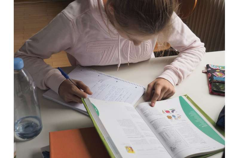 Doing homework is associated with change in students' personality