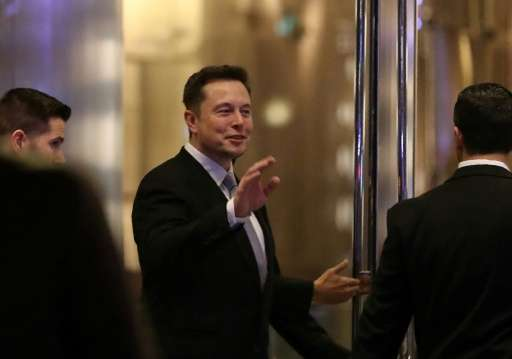Elon Musk, founder and chief executive of electric carmaker Tesla, seen at a ceremony in Dubai in February, said he would quite