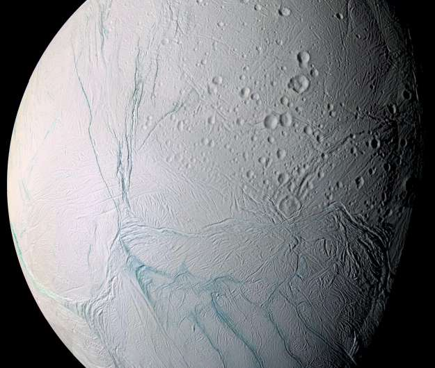 Enceladus' south pole is warm under the frost