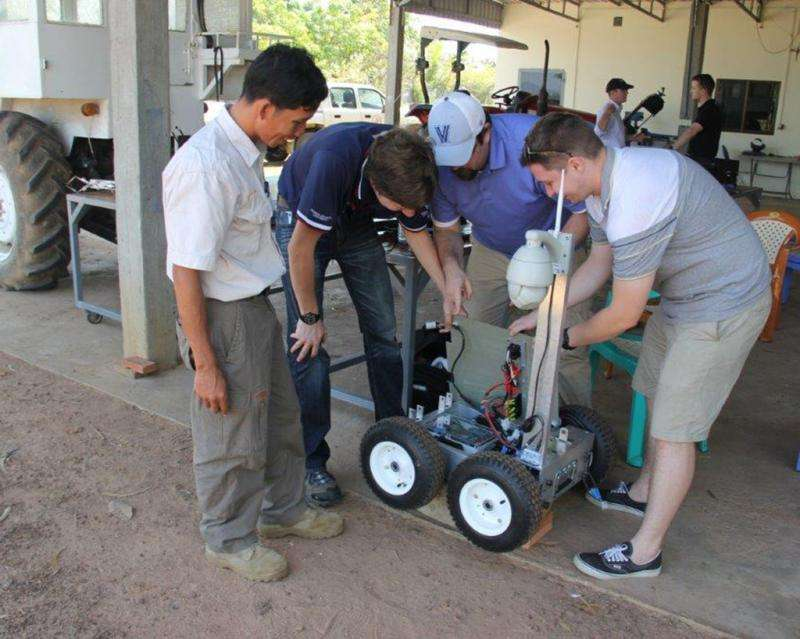 Engineers respond to UXO crisis with low-cost EOD robot