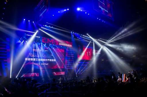 Fans attend the eSports and Music Festival in Hong Kong on August 4, 2017. Hundreds of youthful fans on August 4 cheered on vide