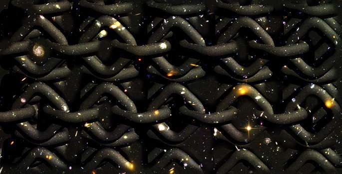 Filling the early universe with knots can explain why the world is three-dimensional