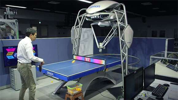FORPHEUS robot  from Omron is a table tennis coach